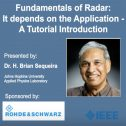 Fundamentals of Radar: It depends on the Application - A Tutorial Introduction