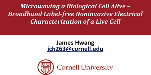 Microwaving a Biological Cell Alive – Broadband Label-free Noninvasive Electrical Characterization of a Live Cell