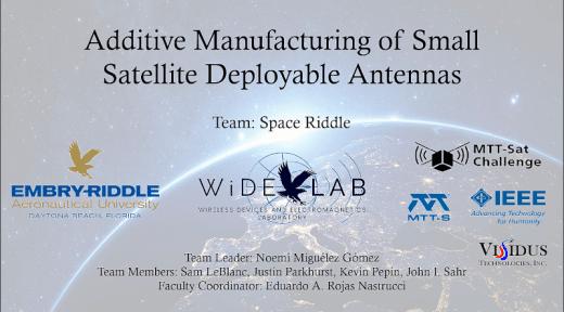 Adaptive Manufacturing of Small Satellite Deployable Antennas (Embry-Riddle Aeronautical University, Daytona Beach, Florida)